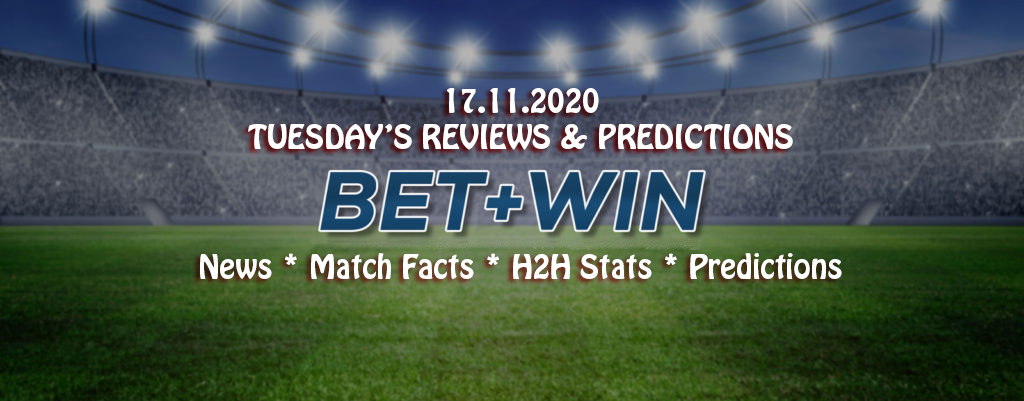 Match Facts, H2H & Predictions 17.11.2020